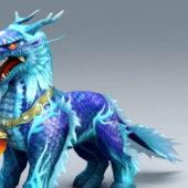 Blue Kirin Fantasy Animal