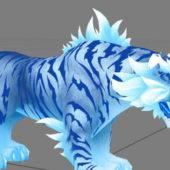 Gaming Blue Tiger Character
