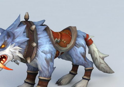Blue Wolf Mount Game Character