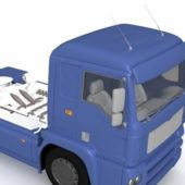 Vehicle Tractor Truck Blue Paint