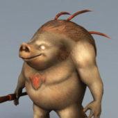 Boar Warrior Character