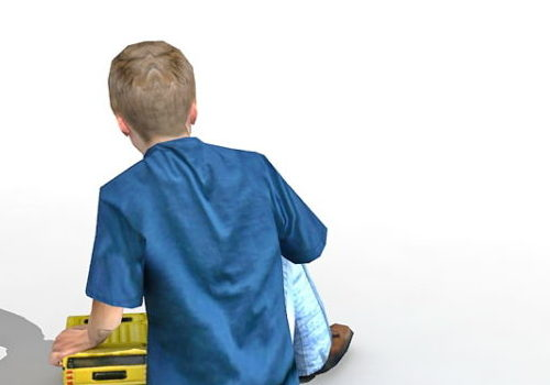 Boy Character Playing Toy