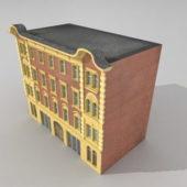 Brick Old Apartment Building