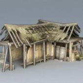 Broken Thatched Cottage Construction