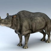 Brontotherium Megacerops Animal Rigged