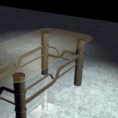 Brown Furniture Glass Coffee Table
