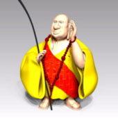Character Buddhist Monk Cartoon