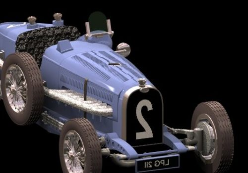 Vintage Bugatti Type 59 Sport Racing Car
