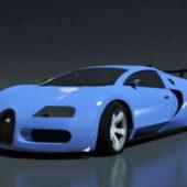Blue Bugatti Veyron Sport Car