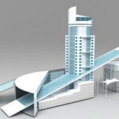 Modern Business Center Buildings
