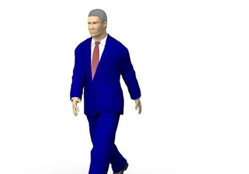 Business Man Walking Character