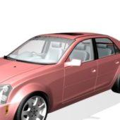 Red Cadillac Dts Sedan Car