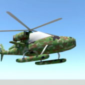 Military Camouflage Helicopter