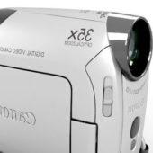 White Canon Zr850 Camcorder