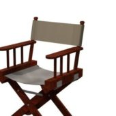 Canvas Director Chair Wood Material