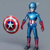 Captain America Cartoon Character