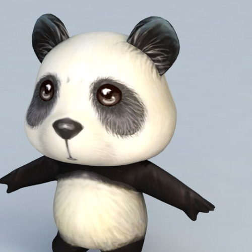 Cartoon Character Anime Panda
