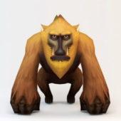 Cartoon Baboon Animal
