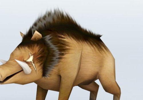Cartoon Boar Wild Animal
