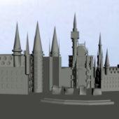 Cartoon Huge Castle