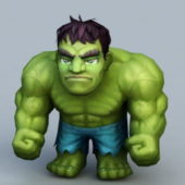 Cartoon Chibi Hulk Character