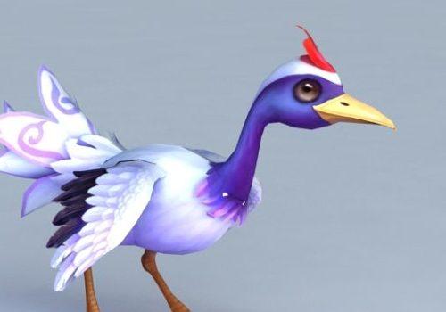 Cartoon Crane Bird Animal