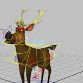 Cartoon Animal Deer Rig