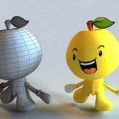 Cartoon Fruit Character