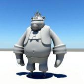 Cartoon Gorilla Character
