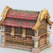 Asian Ancient Cartoon House
