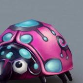 Beauty Cartoon Ladybug