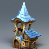 Cartoon Style Medieval House