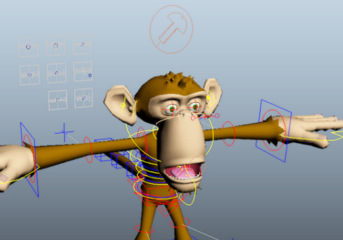 Cartoon Animal Monkey Rigged