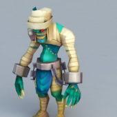 Cartoon Character Mummy Monster