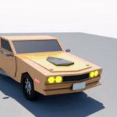 Cartoon Style Muscle Car