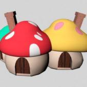 Cartoon Kids Mushroom House