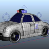 Cartoon Car Police Wagon Rig