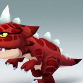 T-rex Dinosaur Cartoon Character Animated