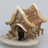 Cartoon Style Village House