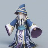 Cartoon Wizard Character
