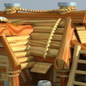 Cartoon Wooden Store
