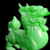 Carved Jade Quilin Animal