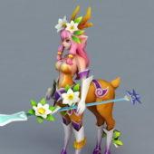 Character Deer Girl Anime Warrior