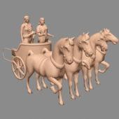 Horses Chariot Drawn