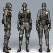 Character Chemical Soldier