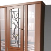 Cherry Wood Furniture Display Cabinet