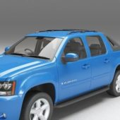Vehicle Chevrolet Avalanche Blue