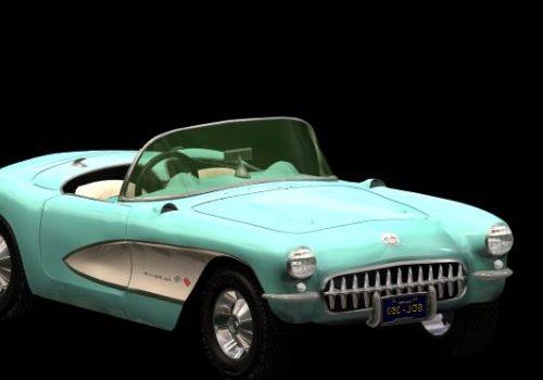 Vintage Chevrolet Corvette Sports Car