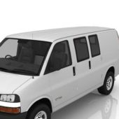 White Chevrolet Van
