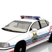 White Chevrolet Police Car